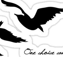 Divergent - One Choice Ravens Tattoo Sticker