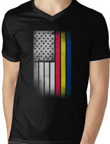 Romanian American Flag - Half Romanian Half American  Mens V-Neck T-Shirt