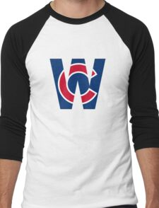 Cubs W Chicago Cubs W with Red/Blue C Men's Baseball ¾ T-Shirt