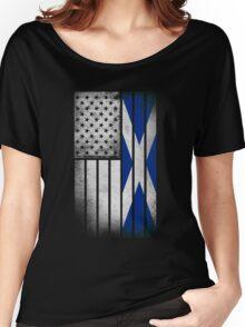 Scottish American Flag - Half Scottish Half American Women's Relaxed Fit T-Shirt