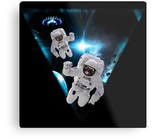 Puppies Lost in Space Metal Print