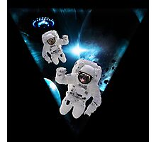 Puppies Lost in Space Photographic Print