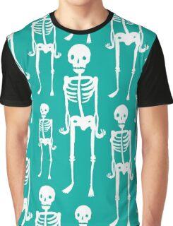 Turquoise Skeleton Graphic T-Shirt