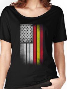 Spanish American Flag - Half Spanish Half American Women's Relaxed Fit T-Shirt