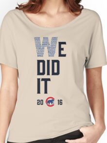 Chicago Cubs World Series Champions 2016 Women's Relaxed Fit T-Shirt