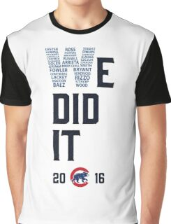 Chicago Cubs World Series Champions 2016 Graphic T-Shirt
