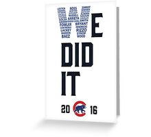 Chicago Cubs World Series Champions 2016 Greeting Card