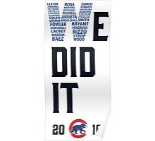 Chicago Cubs World Series Champions 2016 Poster