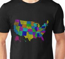 United States of America States - All USA States Unisex T-Shirt