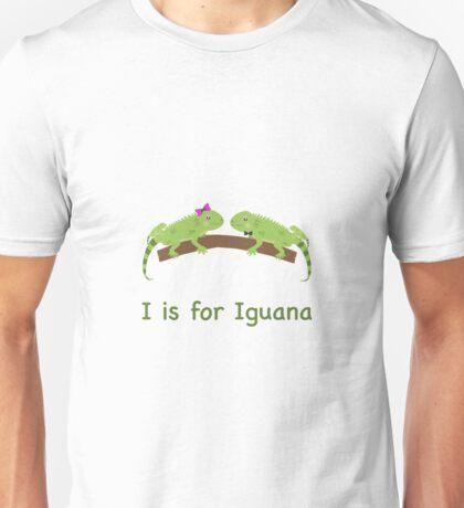 I is for Iguana Unisex T-Shirt