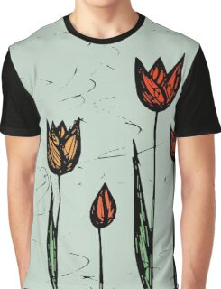 Tulips Sketch Graphic T-Shirt