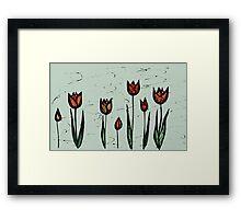 Tulips Sketch Framed Print