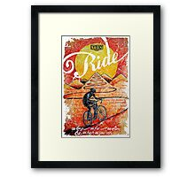 Ride...until the sun sets Framed Print