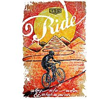 Ride...until the sun sets Photographic Print