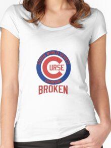Curse Broken - Chicago Cubs Women's Fitted Scoop T-Shirt
