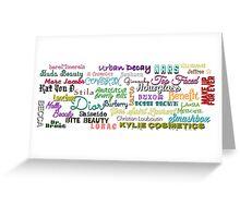 High End Make Up Brands Greeting Card