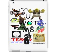 U WOT M8 Montage Parody (Dress Code Safe) iPad Case/Skin