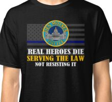 Support Police: Des Moines Cops - Real Heroes Die Serving the Law Classic T-Shirt