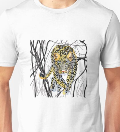 Leopard in the Jungle Unisex T-Shirt