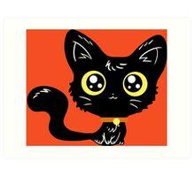 Adorable Black Cat Art Print