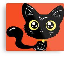 Adorable Black Cat Metal Print
