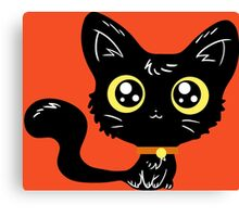 Adorable Black Cat Canvas Print