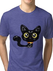 Adorable Black Cat Tri-blend T-Shirt