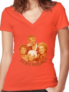 Golden Girls Stay Golden Women's Fitted V-Neck T-Shirt