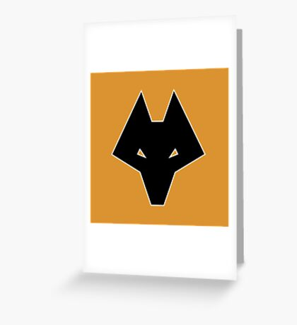 Wolves Head (1980s) Greeting Card