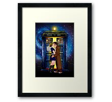 The last kiss from the Doctor Framed Print
