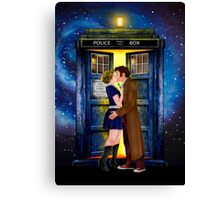 The last kiss from the Doctor Canvas Print