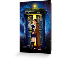 The last kiss from the Doctor Greeting Card