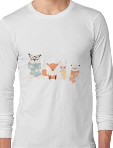 Christmas animal pattern, 002 Long Sleeve T-Shirt