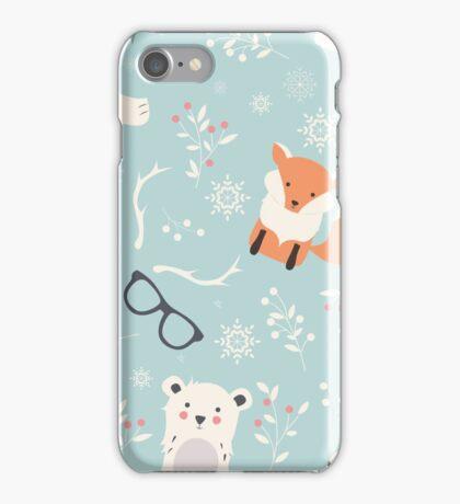 Christmas animal pattern, 001 iPhone Case/Skin