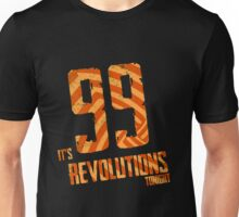 99 Revolutions: Orange, No Logo Unisex T-Shirt