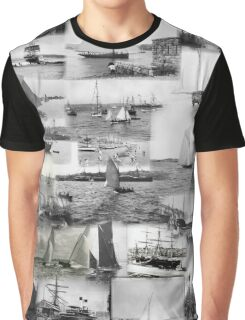 Classic Sailboats Graphic T-Shirt