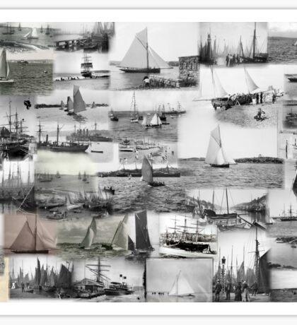 Classic Sailboats Sticker