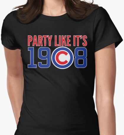 Party Like It's 1908 Womens Fitted T-Shirt