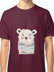 Cute polar bear with scarf Classic T-Shirt