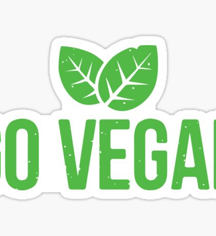 Go Vegan! Sticker