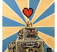 Tin Robot :: 8 Bit Love Machine Photographic Print