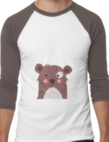 Brown bear Men's Baseball ¾ T-Shirt