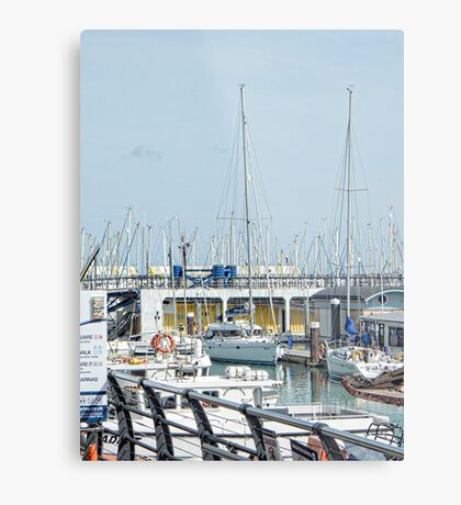 First Find Your Boat Brighton Marina Metal Print