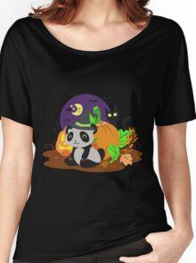 Halloween Panda Women's Relaxed Fit T-Shirt