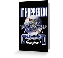 chicago world series Greeting Card