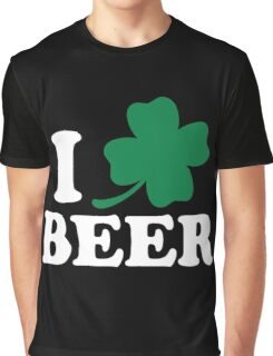 I Clover Beer, St Patricks Day Graphic T-Shirt