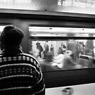 Commuter Time – Paris, France by Norman Repacholi