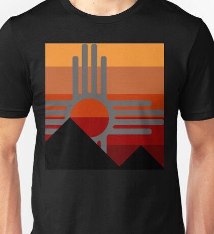 zia mountain sunset Unisex T-Shirt