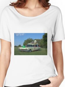 1959 Cadillac Ambulance Ghostbusters Car replica Women's Relaxed Fit T-Shirt