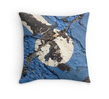 Blue Asphalt 01B Throw Pillow